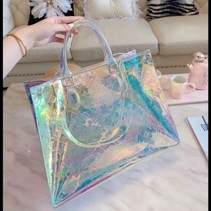 Louis Vuitton neverfull prism tote bag